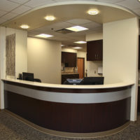 BD Construction Brodstone Memorial Hospital Welcome Desk