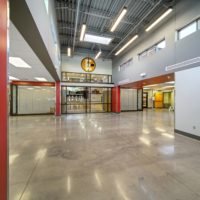BD Construction Elwood Public Schools MultiFunction Space outside gym